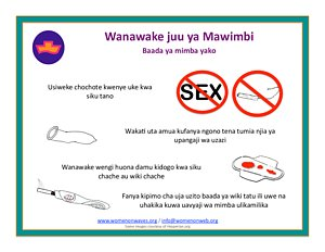 Swahili, low literacy information abortion aftercare