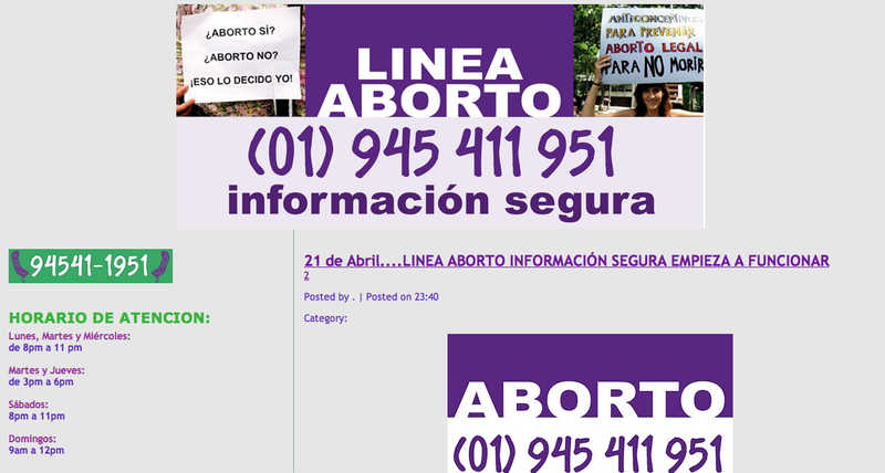 Peru Abortion Hotline blog