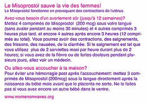 Misoprostol sticker french