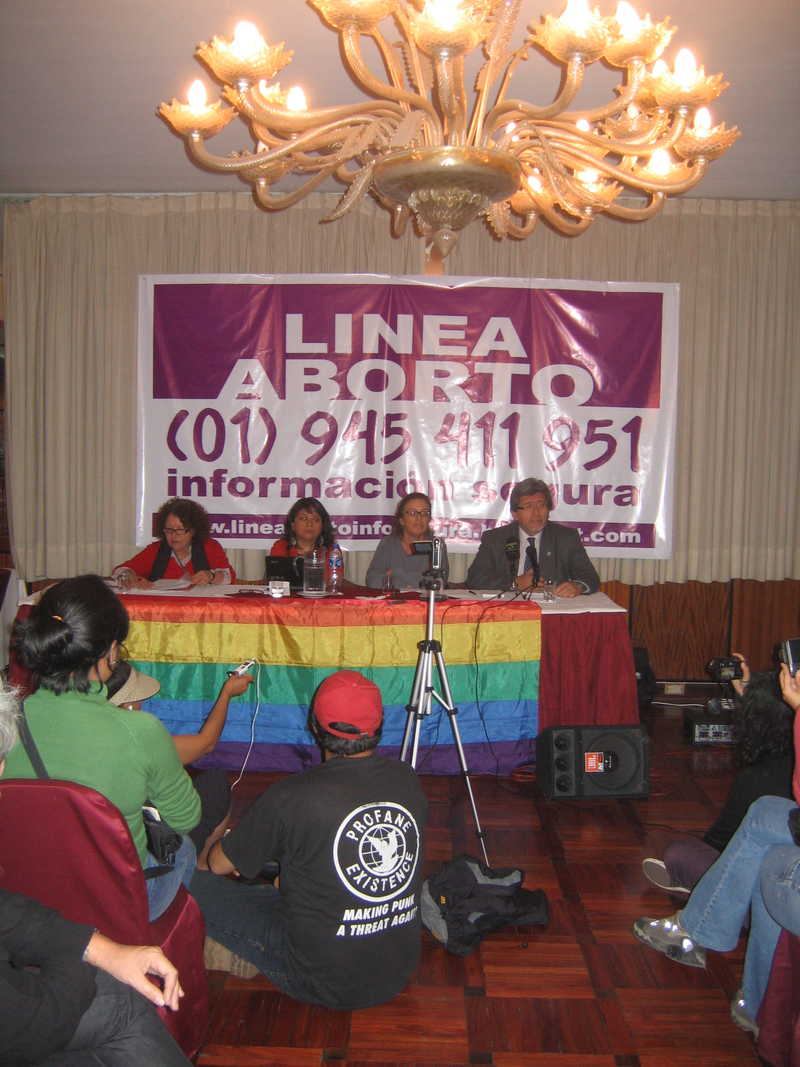 Press conference, Lima