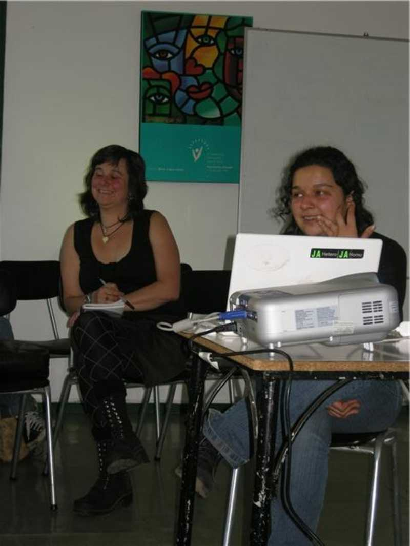 Susan and Sara giving safe abortion training with pills in Chile