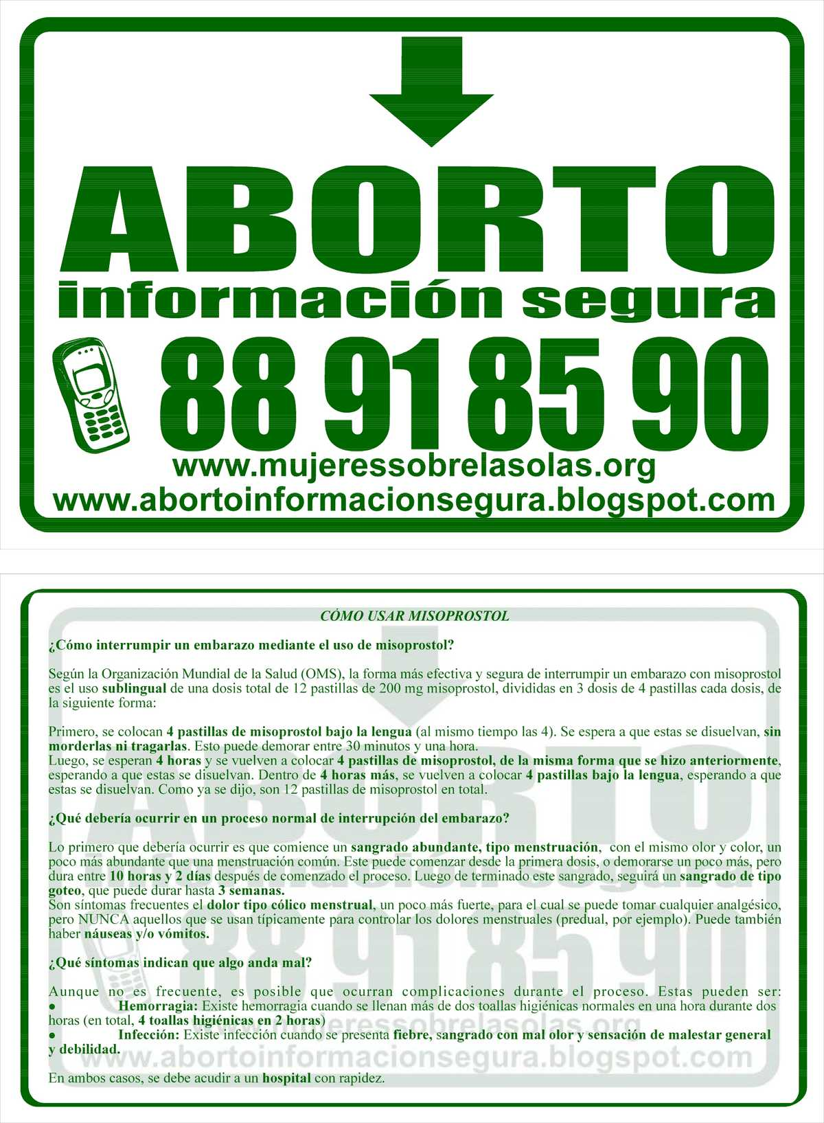 Flyer, Chilean Hotline