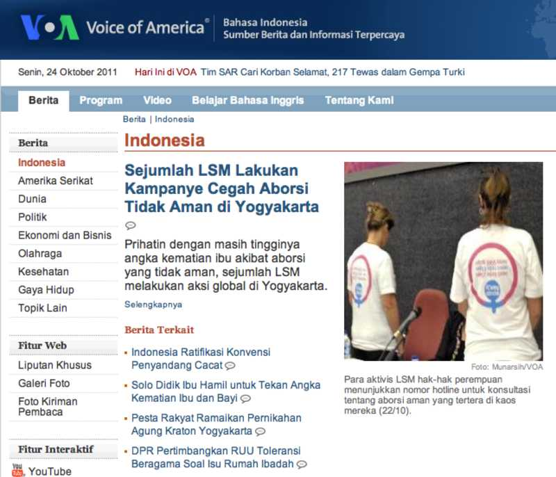 voice of america indonesia