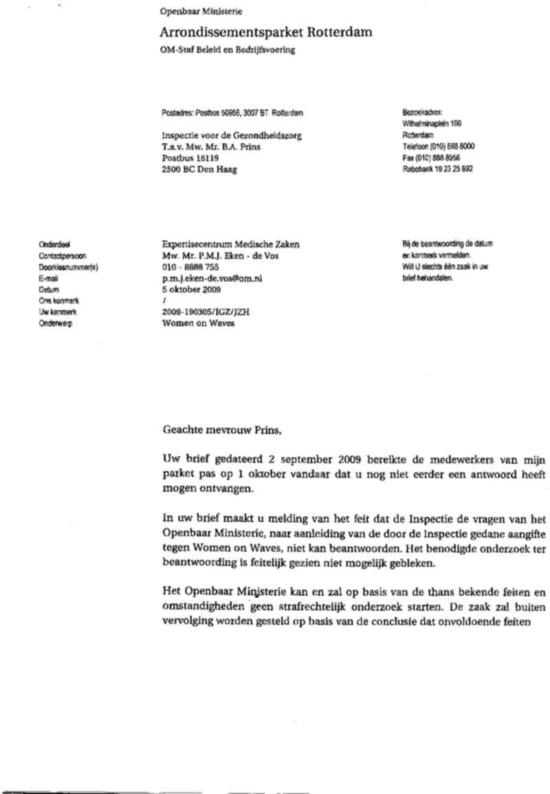 letter public prosecutor  om  1  u2014 women on waves