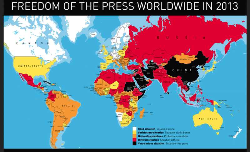 world map freedom of information