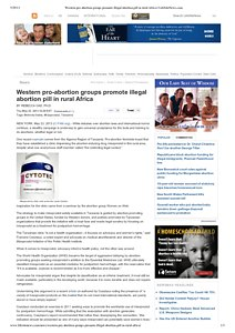 Western pro-abortion groups promote illegal abortion pill in rural Africa _ LifeSiteNews.pdf