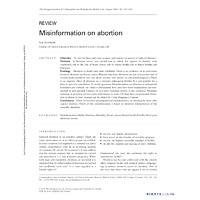 scientific article about misinformation about abortion