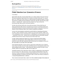 Guam Abortion Law Tyrannizes Women