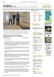Activism and art at Antioch, article 2014