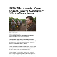 SXSW_ 'Cesar Chavez,' 'Before I Disappear' Win Audience Awards _ Variety