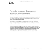 Feminist powered drones drop abortion pill into Poland - AOL.pdf
