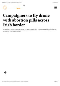 Campaigners to fly drone with abortion pills across Irish ....pdf