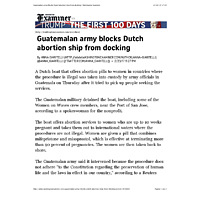 Guatemalan army blocks Dutch abortion ship from docking | Washington Examiner.pdf