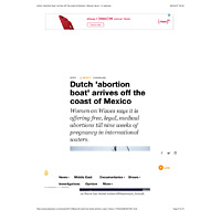 Al Jazeera Dutch 'abortion boat' arrives off the coast of Mexico | Mexico News | Al Jazeera.pdf