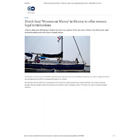 DW News, Dutch boat ′Women on Waves′ in Mexico to offer women legal terminations _ News _ DW.COM _ 23.04.pdf