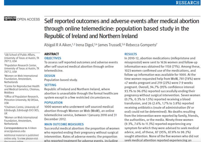 BMJ - Self reported outcomes and adverse events after medical abortion through online telemedicine: population based study in the Republic of Irelnad and Northern Ireland.png