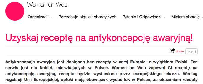 Screenshot EC poland