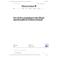 Pro-choice campaigners take illegal abortion pills in Northern Ireland - Belfast Newsletter.pdf