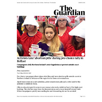 The Guardian Activists take 'abortion pills' during pro-choice rally in Belfast | World news | The Guardian.pdf