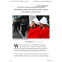 Women in Northern Ireland Wore Handmaid's Robes and Took Abortion Pills to Protest Abortion Ban - HelloGiggles.pdf