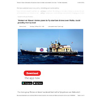 The Malta Independent - 'Women on Waves' denies plans to fly abortion drones over Malta, could possibly visit by boat .pdf